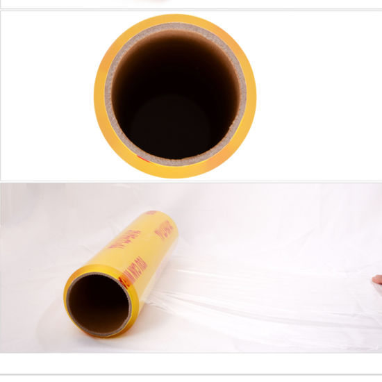 Food Packing PVC Transparent Film/Cling Film Food PVC Jumbo Roll pictures & photos