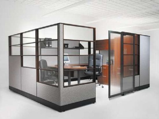 China Modern Room Divider Used Office Glass Wall Partition SZ WS652