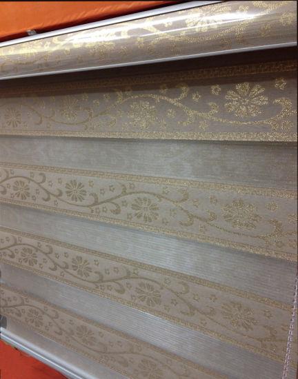 Jacquard Weave Fabric Patterned Zebra Shade Combi Blinds