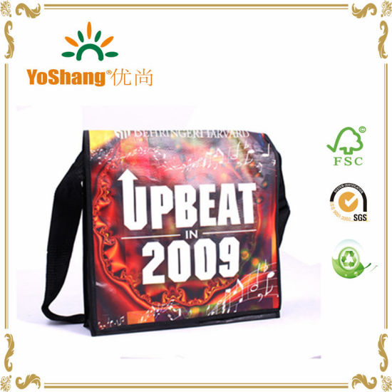 Custom Messenger Bags with Shoulder Strap PP Woven Conference Bag