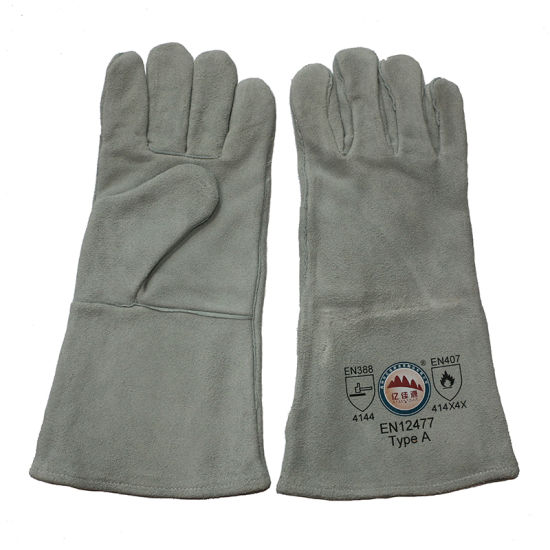 Leather Industrial Welding Safety Gloves pictures & photos