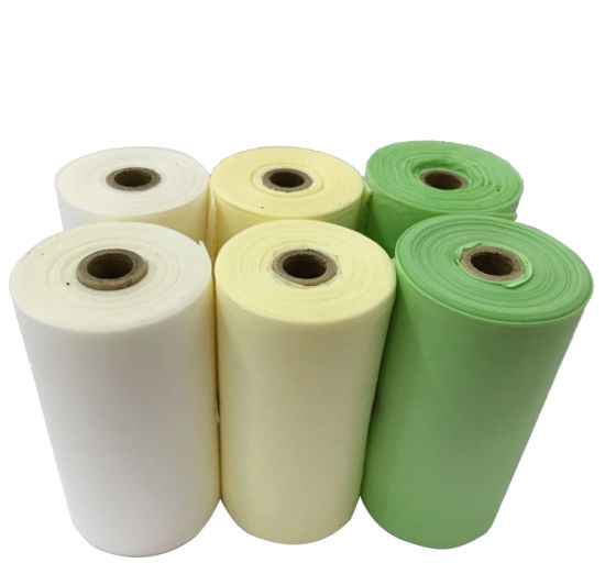 100% Biodegradable& Compostable Cornstarch Scented Dog Poop Bags with Custom Printing