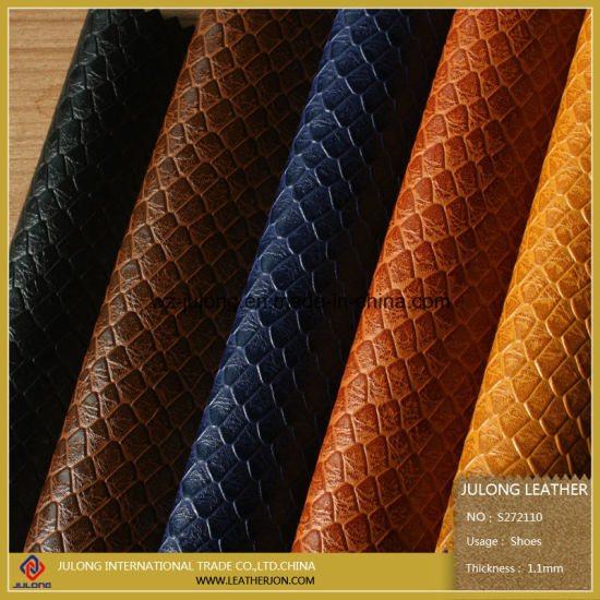 Snake Skin Pattern Embossed High Quality PU Leather (S272110) pictures & photos