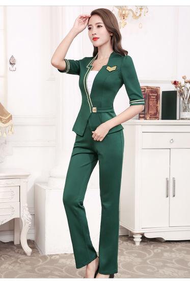 2019 Latest New Design Customize Stylish Stewardess Uniform Workwear