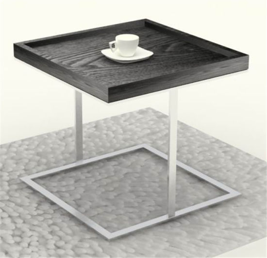 china steel metallic livingroom furniture side end coffee table cj