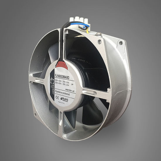 172X150X55mm Silver Color AC 230V 17255 Cooling Axial Fan