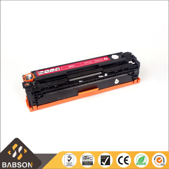 Babson Compatible Color Toner Cartridge for HP CF210A/211A/212A/213A Imported Powder pictures & photos