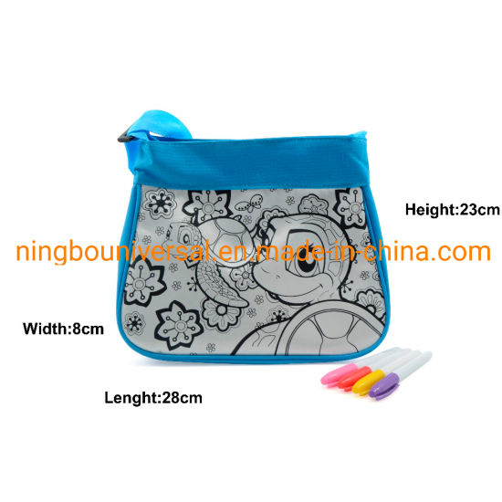 DIY Coloring Painting Drawing Children School Shoulder Bags