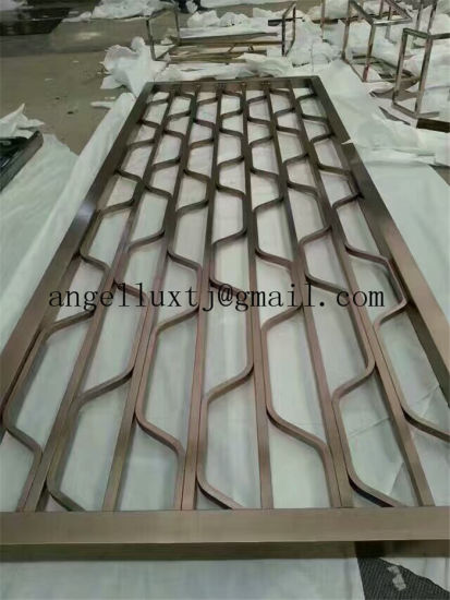 China 304 Bronze Color Stainless Steel Partition Art