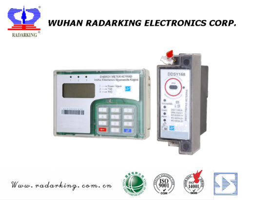 Single Phase DIN Rail Keypad Split Prepaid/Prepayment Electrical Energy Meter pictures & photos