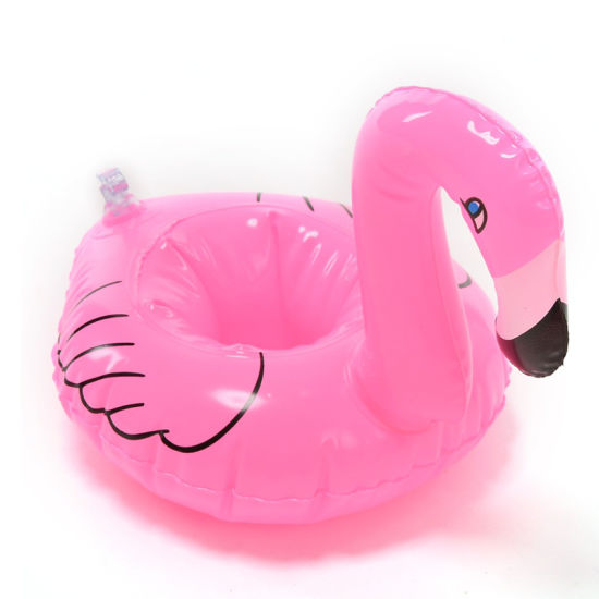 Flamingo Pool Floating PVC Inflatable Can Holder for Party pictures & photos