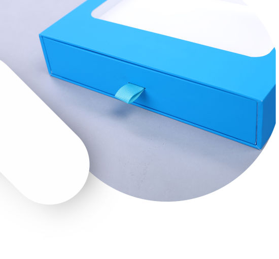 Blue Paper Cardboard Electronic Box pictures & photos