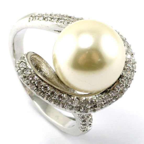 925 Silver Ring with Pearl (IT1R001) pictures & photos
