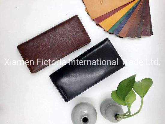 Fashion Woman Long Wallet High Quality Hot Sale Fashion Lady Wallet Girl Purse Wide Elegant Leather Wallet Genuine with Zipper