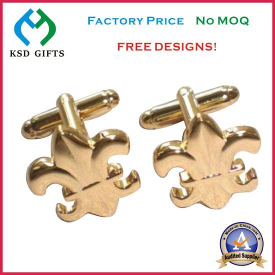 Good Quality Promotion Gift, Metal Brass Cufflinks (KSD-1155)