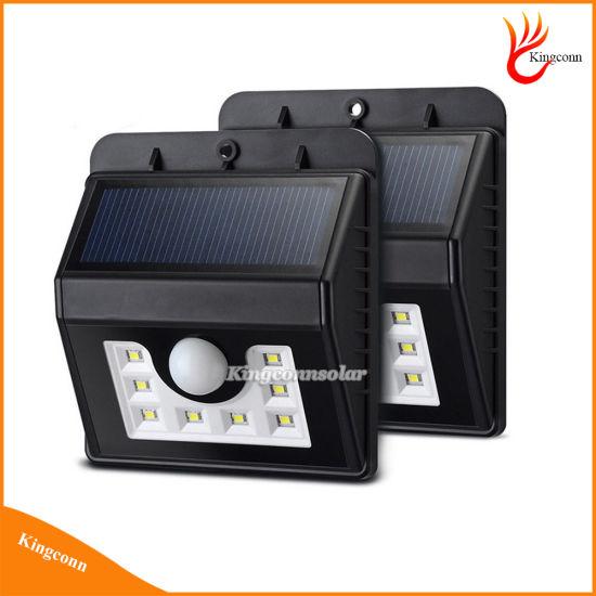 New 8 LED Solar Powered Motion Sensor Lamp for Outdoor Garden Pathway Emergency Spot Lighting