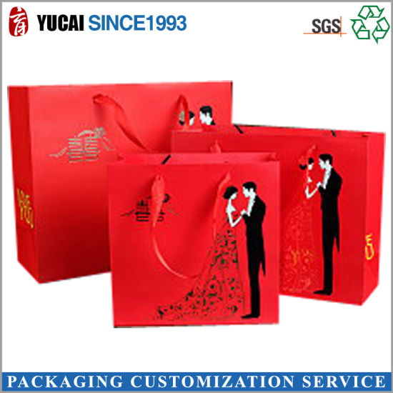 China Creative Red Paper Bags Indian Wedding Gift Bags - China ...