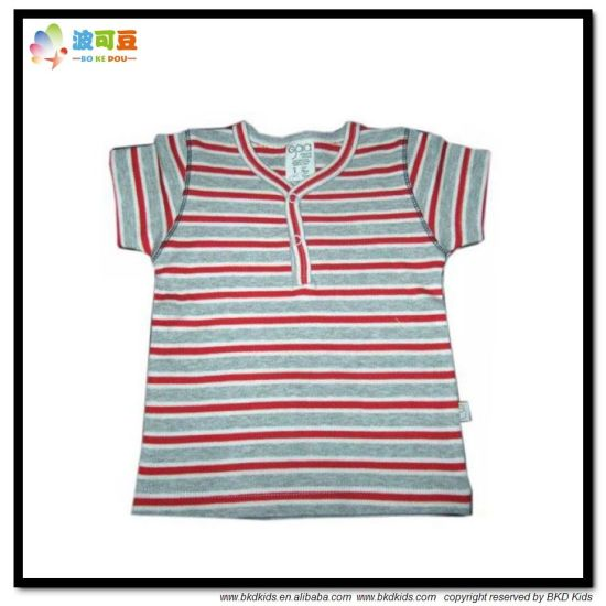 Stripe Printing Baby Clothes Soft Handfeel Baby T-Shirt