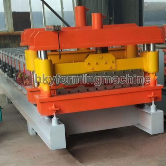 2014new Type 1100 Arc Bias Glazed Tile Roll Forming Machine pictures & photos