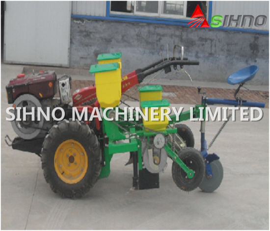 China 2 Rows Corn Seeder Planter With Walking Tractor China Maize
