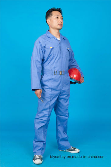 65% Polyester 35%Cotton Safety Working Garment with Reflective (BLY1023)