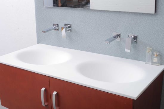 Modern Design Acrylic Solid Surface Bathroom Cabinet Sink (NX5003) pictures & photos