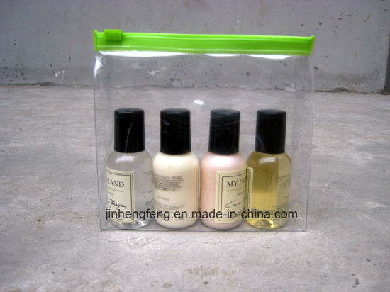 Recycled Clear Makeup Bags Waterproof PVC Cosmetic Bag with Zipper (jhf-plastic011) pictures & photos