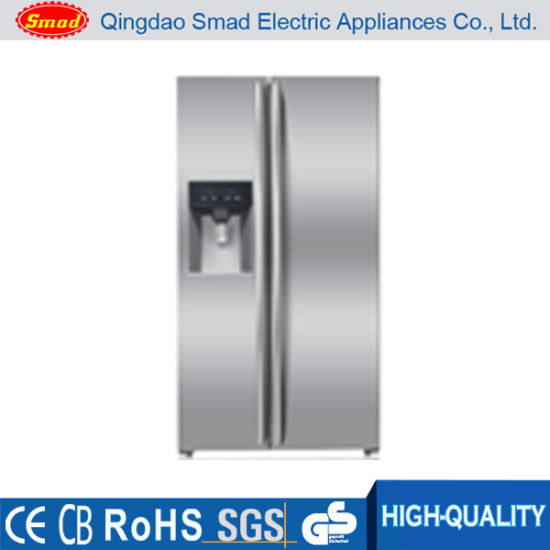 Commercial Side by Side Refrigerator with Icemaker/Water Dispenser/Water Bar pictures & photos