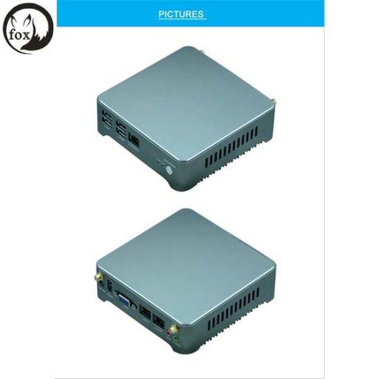 China X86 Fanless Mini PC Barebone 2 Ethernet Nic Ports Small PC J1900  Pfsense I3 4005u I5 I7 Processor Mini PC 2 LAN Port