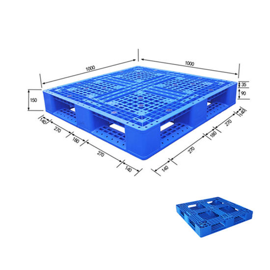 Chinese Supplier HDPE Light Duty Nestable Storage Plastic Pallet