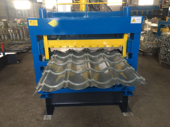 Three Layer Glazed Tile Galvanized Roofing Sheet Making Machine pictures & photos