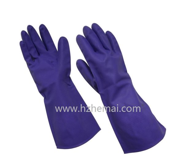 Latex Free Household Gloves Pink Nitrile Chemical Safety Work Glove pictures & photos