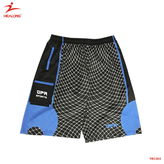 Healong Top Brand Sportswear Sublimation Sports Shorts with Customized Logo
