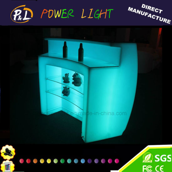 RGB Color Changing Plastic Furniture LED Glowing Modular Round Bar Counter pictures & photos