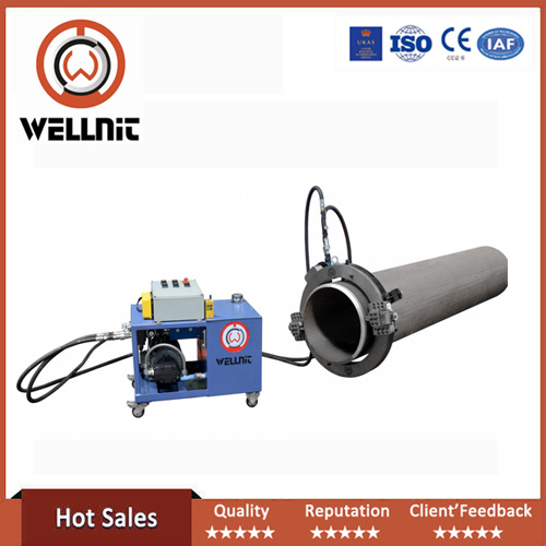 Portable Pipe Cutting and Beveling Machine with Hydraulic Press
