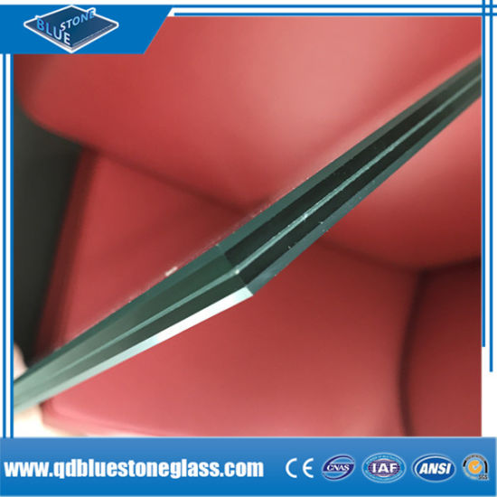 3mm-12.38mm Safety Building Laminated Glass Manufactory with Colored PVB Films