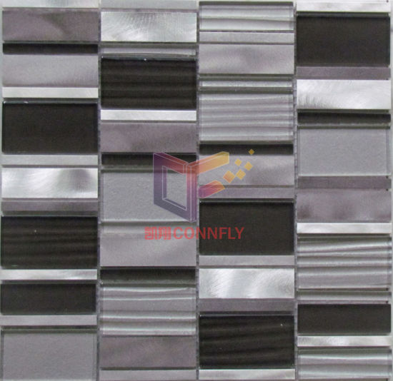 Wave Glass Mix Colored Aluminium Mosaic (CFA59) pictures & photos