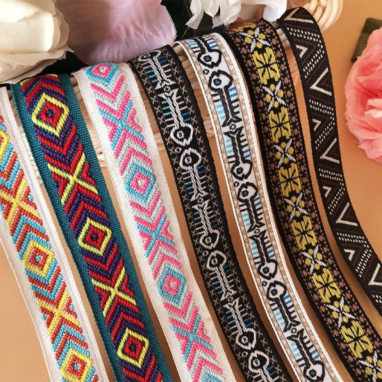 High Quality Custom Decorative Pattern Jacquard Colorful Invisible Woven Tape