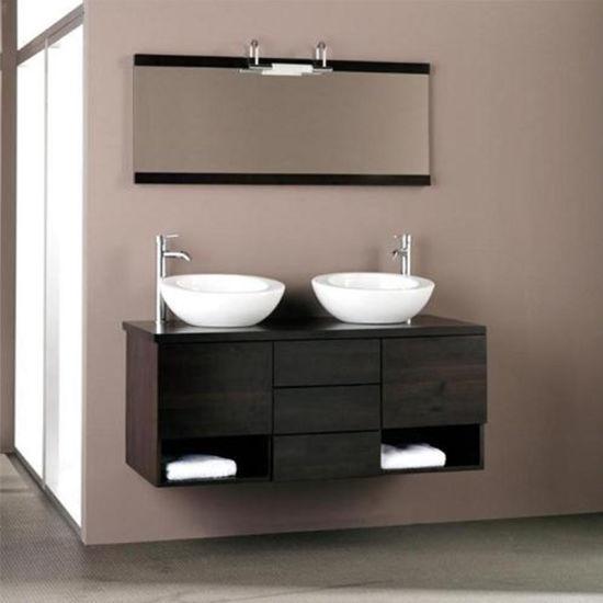Canada Hotel Best Quality Black Bathroom Vanity With Sink