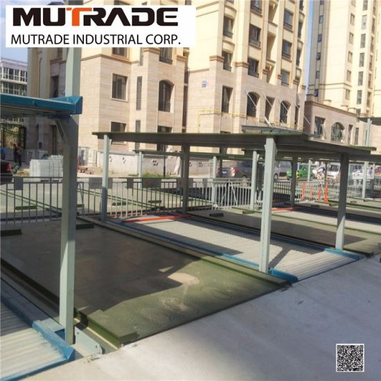Motor Drive Underground Four Post Parking Lift pictures & photos