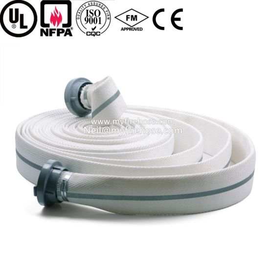 Double Jacket PVC Fire Resistant Hydrant Hose Manufacture pictures & photos