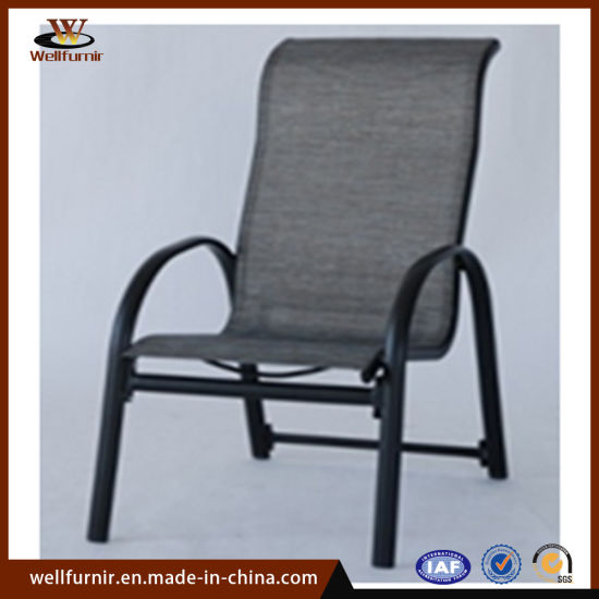 Outdoor Garden Pool Aluminum Furniture Sling Dining Chair Wftx 18707c