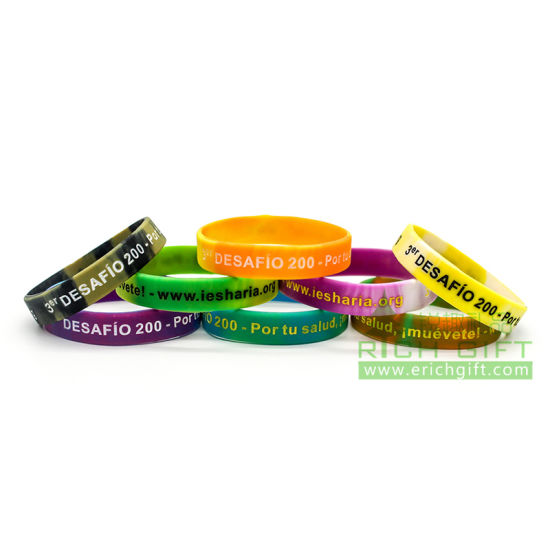 Hot Ing Logo Custom Silicone Rubber Wristband Maker Bracelet