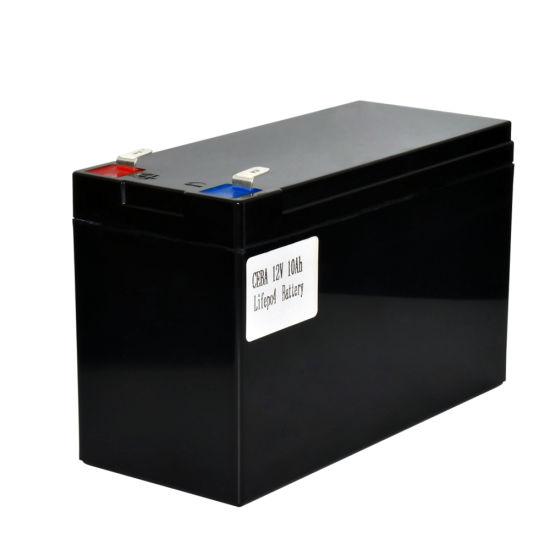 Shenzhen Manufaturer 12V Rechargeable10ah LiFePO4 Battery with ABS Case for Solar LED Light