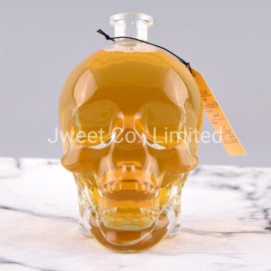 1000ml Head/ Skull/ Shape Glass Bottle for Vodka