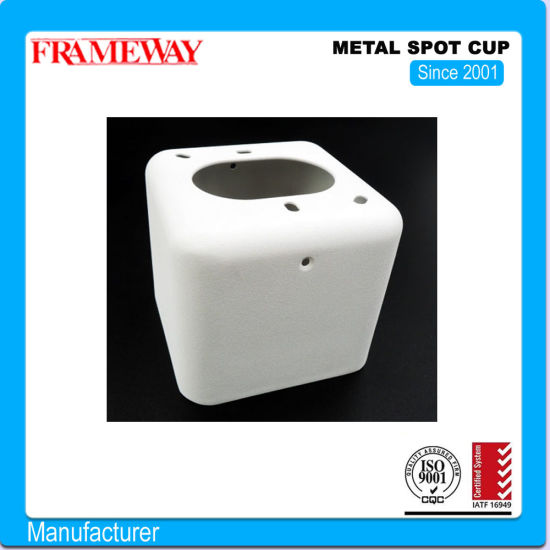 OEM/ODM Manufacturing Lighting Component Metal Spot Cup White Painted Steel Deep Drawing Powder Coating