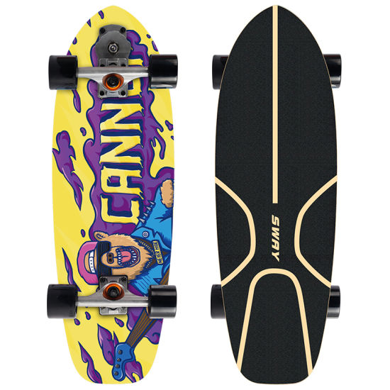 Sway New Hot Type 7ply OEM Custom Surf Northeast Maple Skateboard Surf Skates Truck Surfboard with Cx4