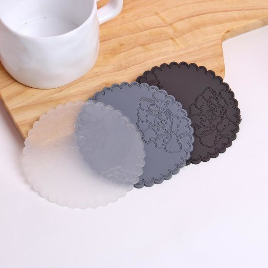 Silicone Drink Coaster Silicone Cup Mat Tabletop Protection