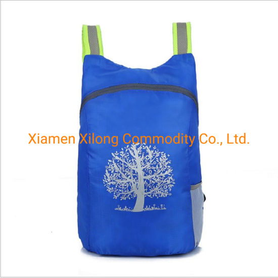 Promotional Foldable Bag Durable Outdoor Packable Lightweight Travel Hiking Blue Backpack Daypack for Travel Hiking Camping