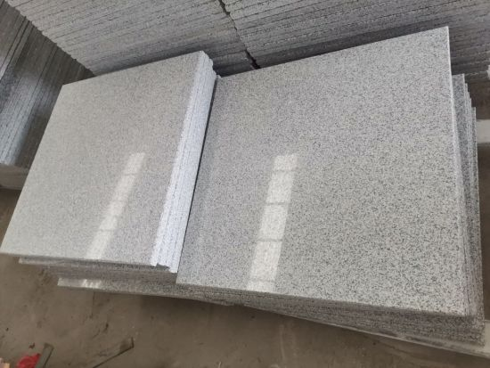 Chinese G603 Light Grey Granite Polished Tiles for Building Wall Facade & Flooring